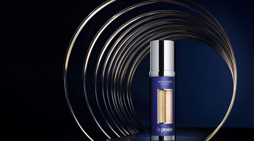 Campaign imagery for La Prairie Skin Caviar Eye Lift