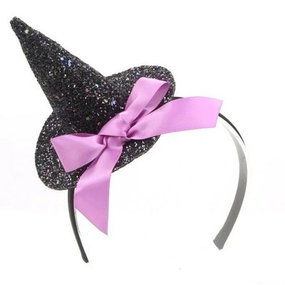 Girls' Glitter Witch Hat Headband - Cat & Jack™ Black