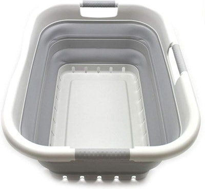 SAMMART Collapsible Plastic Laundry Basket