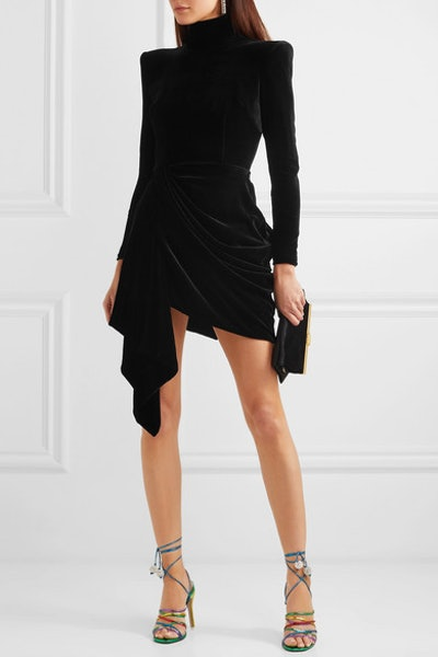 Parker Draped Velvet Mini Dress