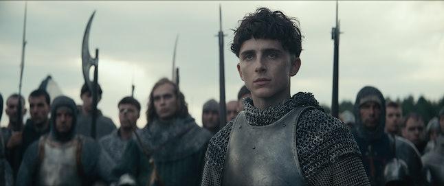 Timothée Chalamet stars as King Henry V in Netflix's The King.