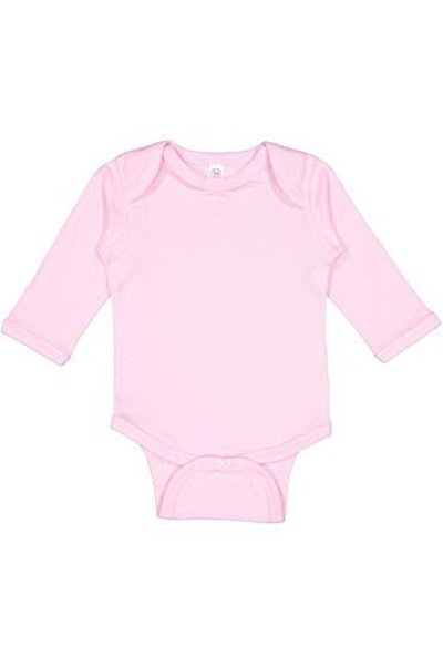 Rabbit Skins Infant Long Sleeve Lap Shoulder Creeper