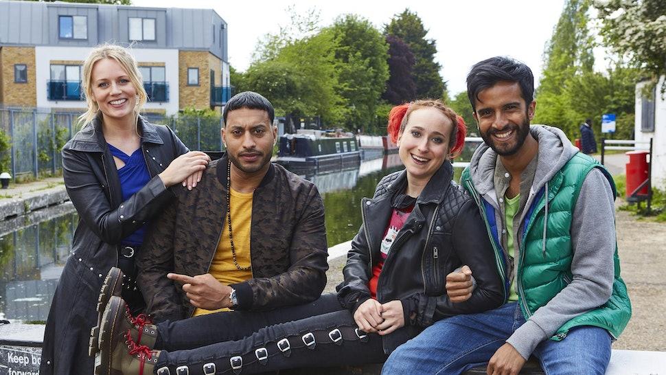 Cara Theobold, Hamza Jeetooa, Leah Brotherhead, and Ryan McKen star in ITV's 'Zomboat!'