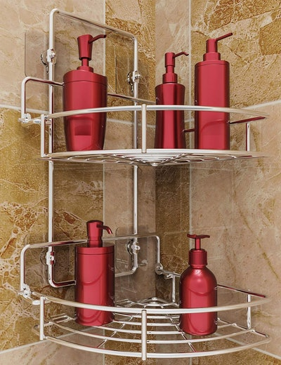 Vdomus Strong Shower Caddy 2-Tier Bathroom Corner Shelf