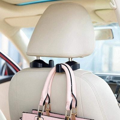 IPELY Universal Car Vehicle Backseat Headrest Hangers (2-Pack)