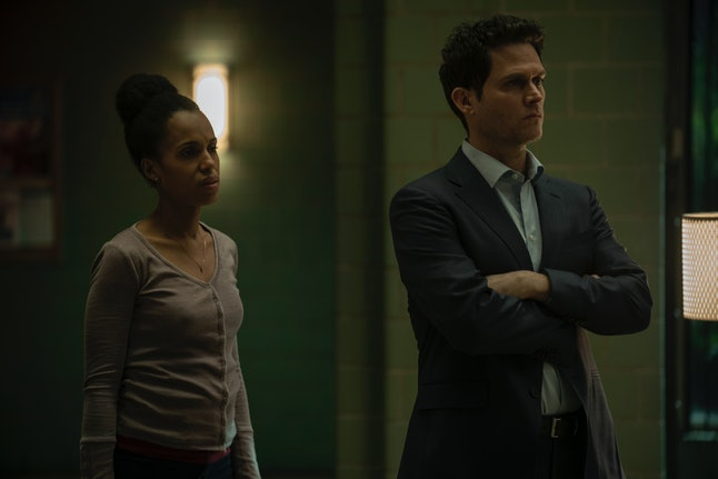 Kerry Washington and Steven Pasquale searching for their missing son in American Son.