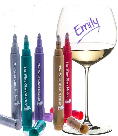 The Wine Glass Marker Original Markers (5-Pack)