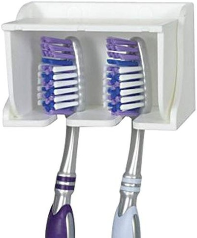 Camco 57203 White Pop-A-Toothbrush Wall Mounted Toothbrush Holder