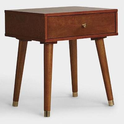 Light Walnut Wood Caleb Accent Table