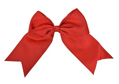 Motique Accessories Red Jumbo Bow Clip with Tails