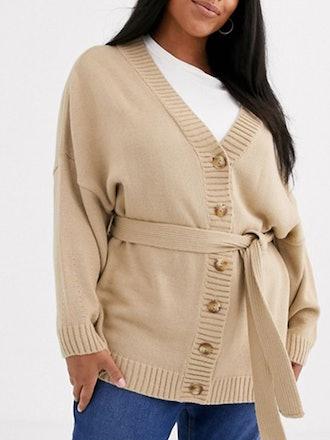 Oversized Belted Cardigan