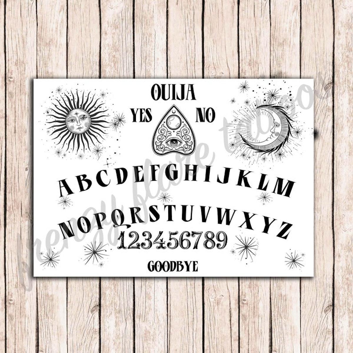 Ouija Board Temporary Tattoos