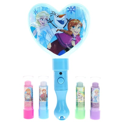 Frozen Light Up Mirror with 4-pack Lip Balm