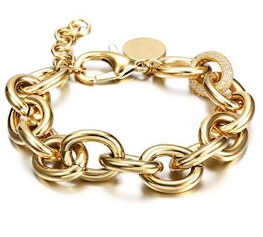 Curb Link Italian Style Oval Bracelet