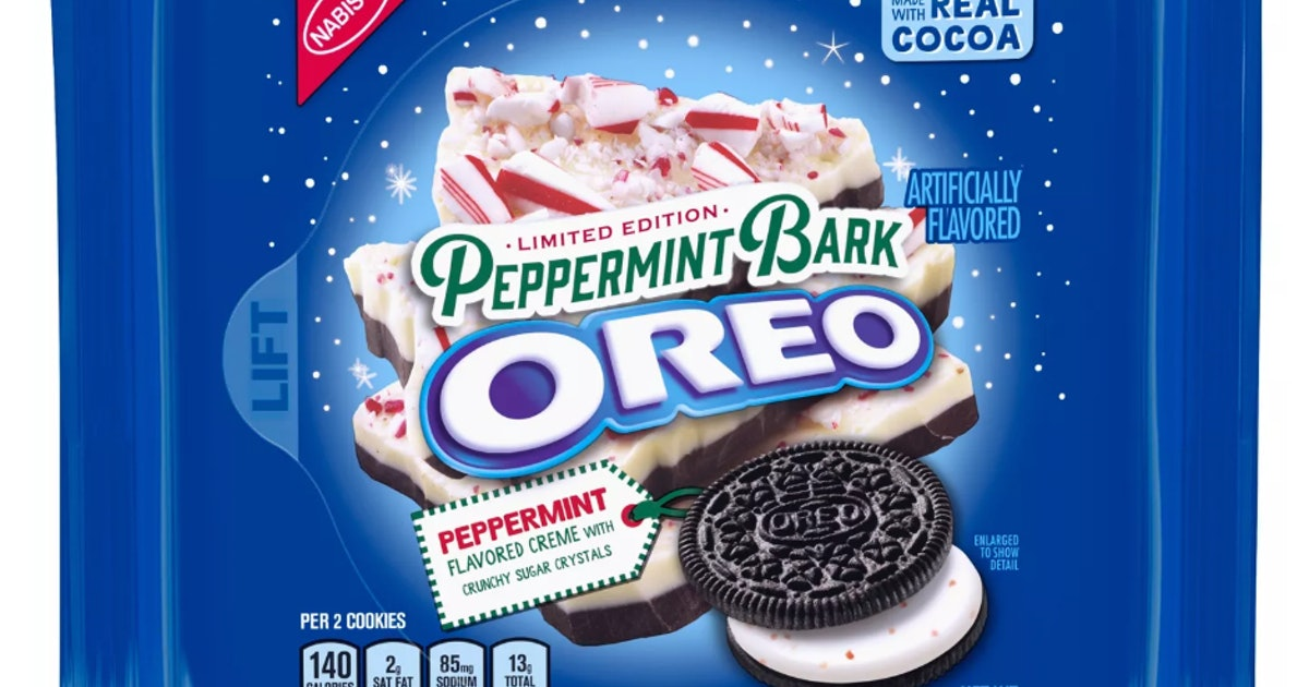 Here's Where To Get Peppermint Bark Oreos To Celebrate Their Return