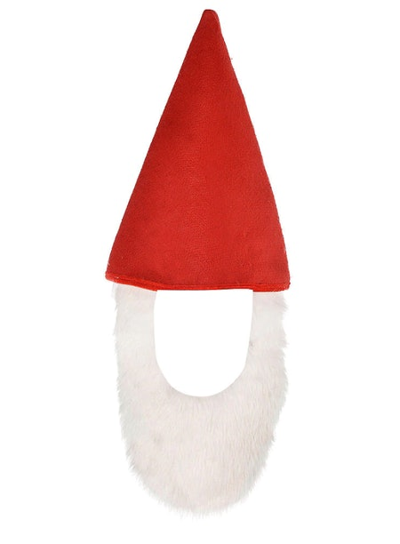 Party City Red Gnome Hat With Beard