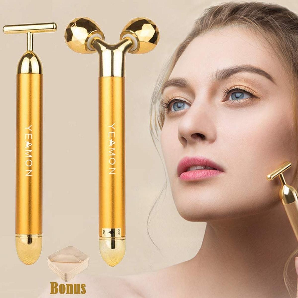 24k Golden Pulse Facial Face Massager (2 Pack)