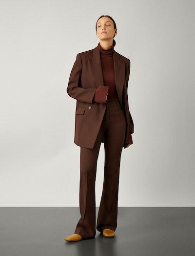 Sloane Wool Granite Trousers