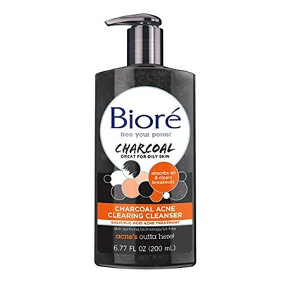Bioré Charcoal Acne Clearing Cleanser for Oily and Acne Prone Skin