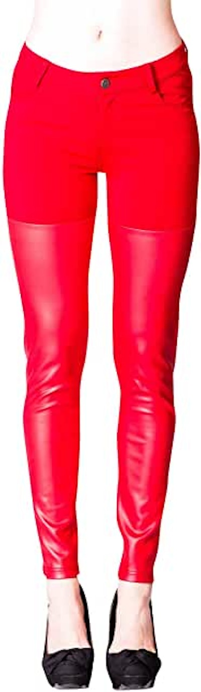 VIRGIN ONLY Faux Leather Leggings (Small - X Large)