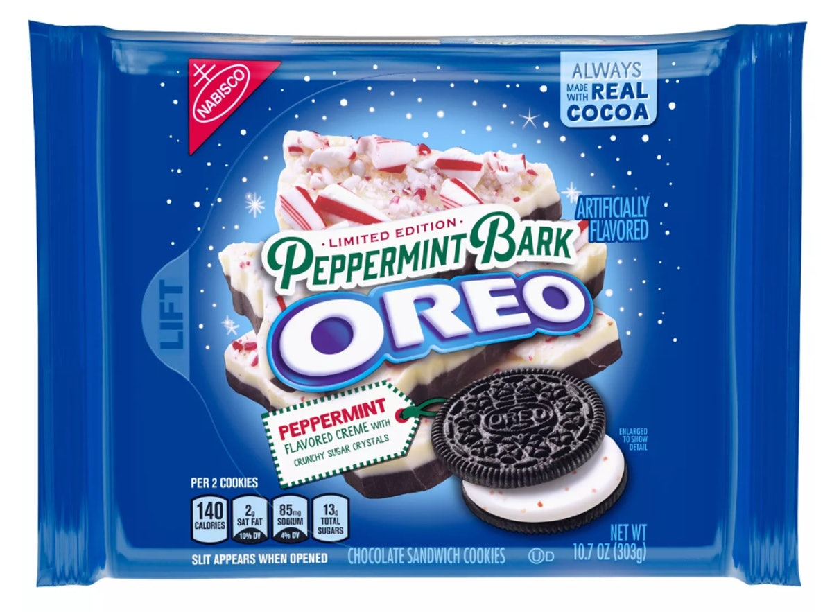 Oreo Peppermint Bark Chocolate Sandwich Cookies