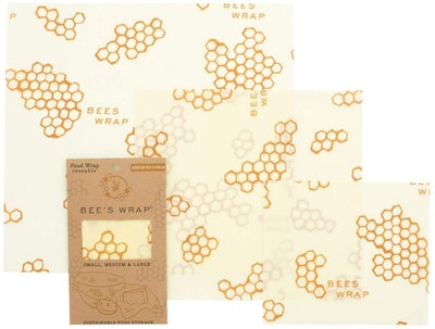 Bee's Wrap Assorted Eco-Friendly Reusable Beeswax Food Wraps (3-Pack)