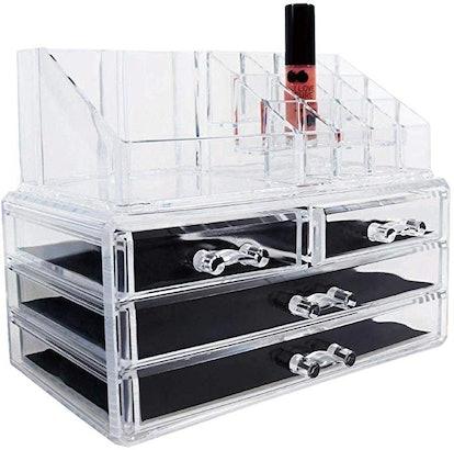 Ikee Design Acrylic Jewelry & Cosmetic Storage Display Boxes