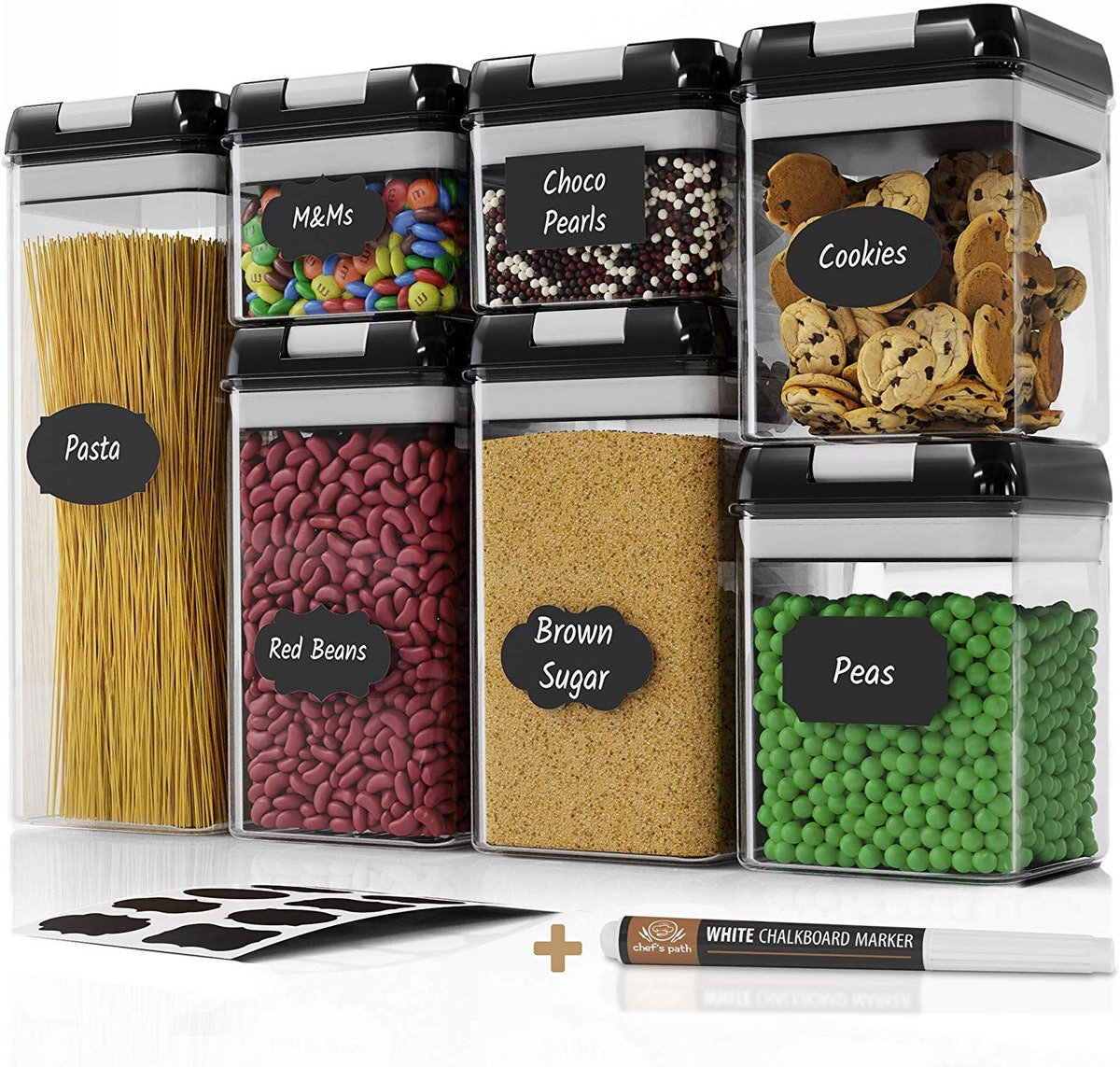 Chef's Path Airtight Food Storage Container Set (7 Pack)