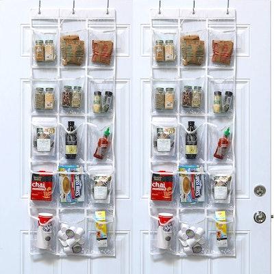 Simple Houseware Over-The-Door Hanging Pantry Organizer (2-Pack)