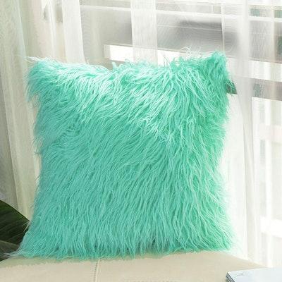 BLEUM CADE Faux Fur Decorative Pillow
