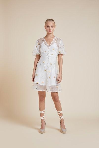 Edie Aurora Silk Organza Dress