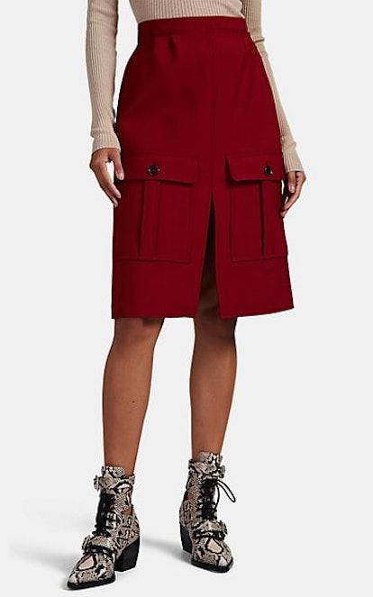 Twill Cargo Skirt