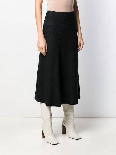 Plain Wool A-Line Skirt