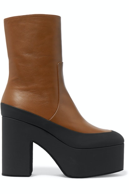 Rubber-Trimmed Ankle Boots