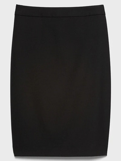 Washable Classic Black Pencil Skirt