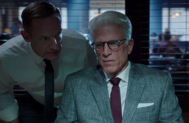 Marc Evan Jackson as Shawn and Ted Danson as Michael in 'The Good Place'