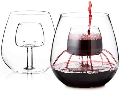 Chevalier Collection Stemless Aerating Wine Glasses (2-Pack)