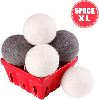 CoolCloudS Wool Dryer Balls (6-Pack)