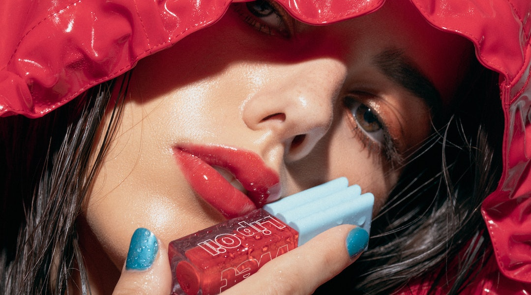 Kosas' new Wet Lip Oil Gloss in red shade