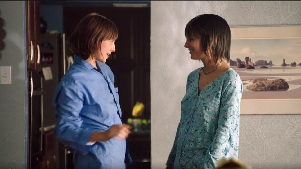 Sadie (Caitlin Stasey) and Nicole (Sasha Frolova) bond in Lifetime's 'Kindred Spirits.'