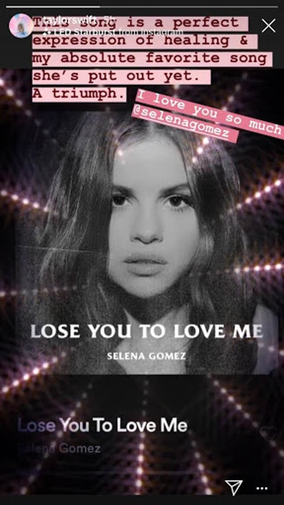 """Taylor Swift supports Selena Gomez's """"Lose You To Love Me"""""""
