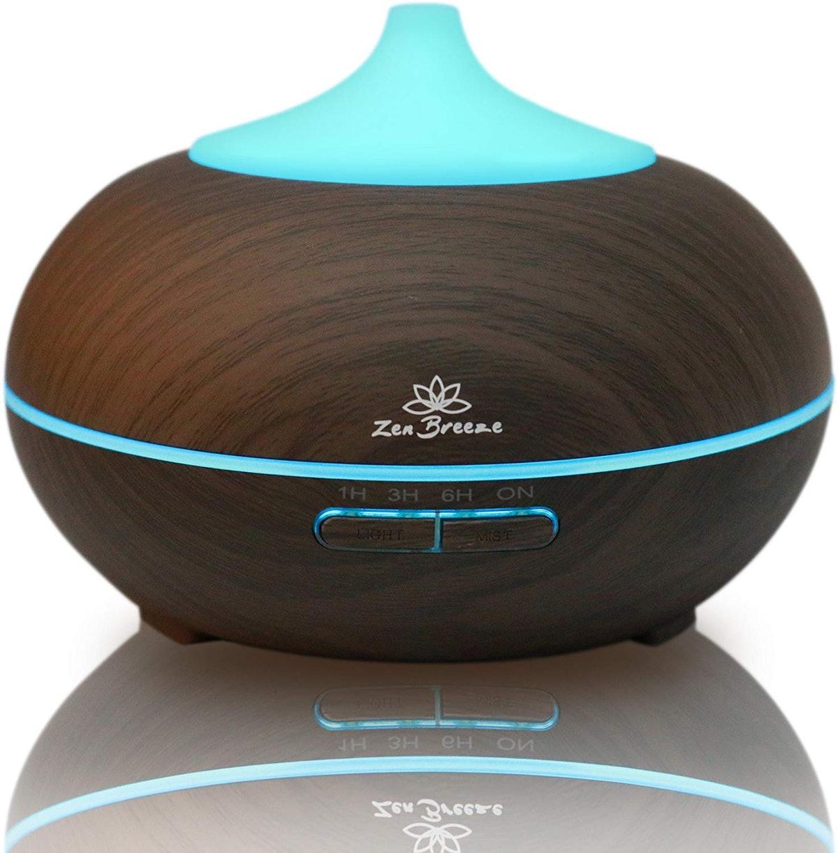 Zen Breeze Essential Oil Diffuser Dark Wood