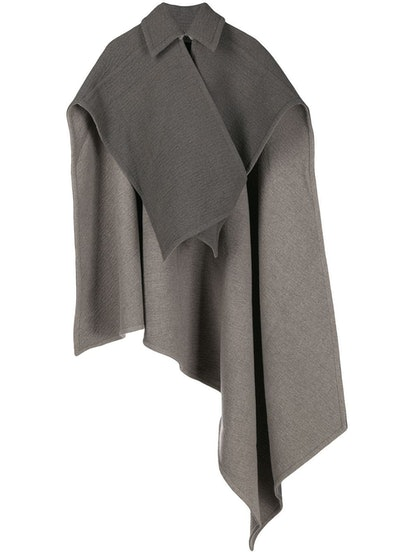 Cross-Wrap Double Face Cape