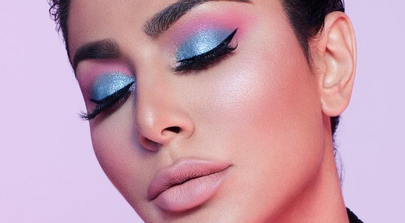 Huda Kattan demonstrates makeup to wear during Mercury Retrograde.