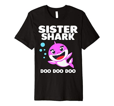 Sister Shark Doo Doo Shirt for Matching Family Pajamas Premium T-Shirt