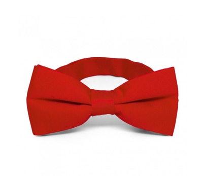 Red Band Collar Bow Tie