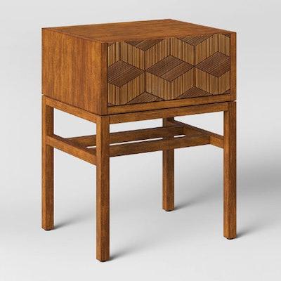Tachuri Geometric Front Accent Table