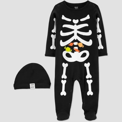Just One You® made by carter's Baby Boys' Halloween Black Skeleton Sleep N' Play with Hat