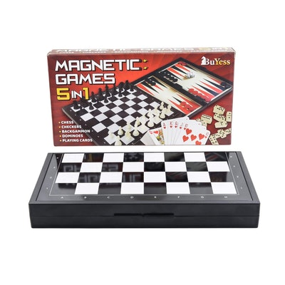 Magnetic Games 5-In-1 Travel Games