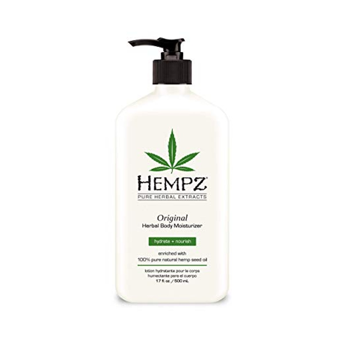 Natural Hemp Seed Oil Body Moisturizer